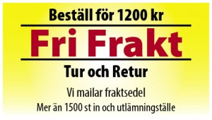 Fri Frakt - Beställ för 1200 kr
